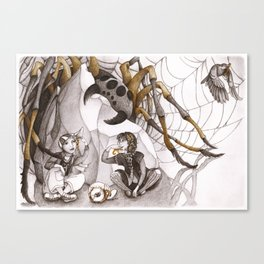 Snack and Spider Canvas Print