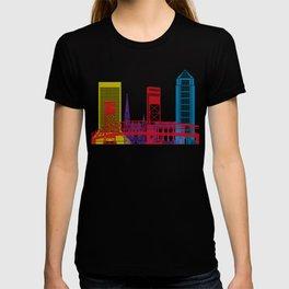 Jacksonville skyline pop T-shirt