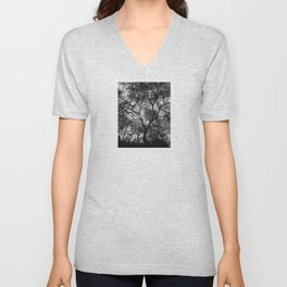 Dramatic London Tree Silhouette Unisex V-Neck