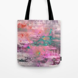 Mystical! - Abstract, pink, purple, red, blue, black and white painting Tote Bag