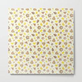 Sweet gingerbread dreams: yellow theme Metal Print