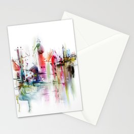 city after rain Stationery Cards