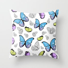 Butterfly-Waiting For Spring Throw Pillow