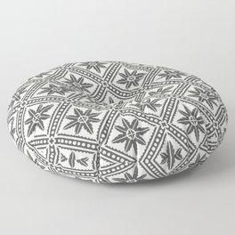 TAZA STAR TILE GREY Floor Pillow