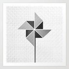 Origami Windmill Art Print