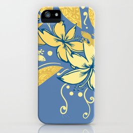 Samoan Orchid Sunset Polynesian Floral iPhone Case