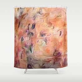 Desert Peach Abstract Shower Curtain