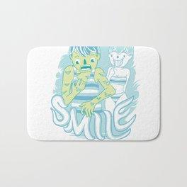 Smile It's contagious :D Bath Mat