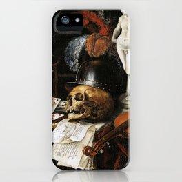 Vintage Vanitas- Still Life with Skull 3 iPhone Case