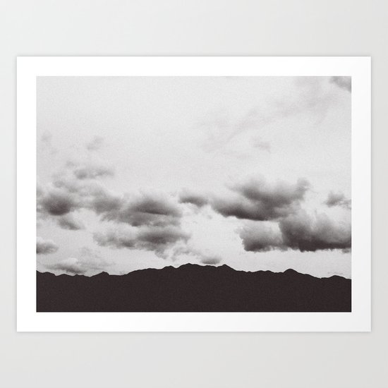 Dark Mountains Art Print