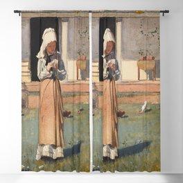 Winslow Homer's a Sick Chicken (1874)  Blackout Curtain