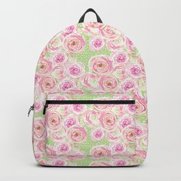 Blush Pink Bouquet Backpack