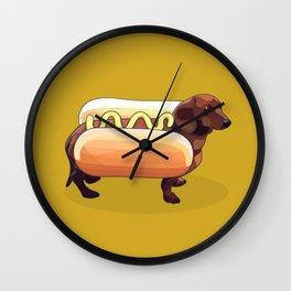 Dachshund Wiener Hot Dog Wall Clock