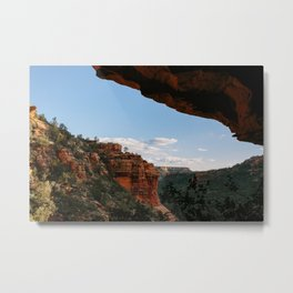 Sedona Sights From Under A Natural Arch Metal Print