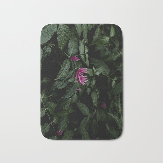 Tropical Flowers Bath Mat