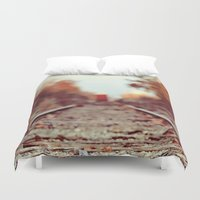 train Duvet Covers featuring Train Song by elle moss