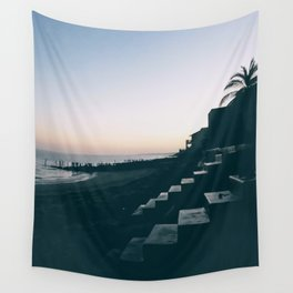 Sun Set Silhouette Wall Tapestry