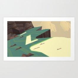 Mountain Shine Art Print