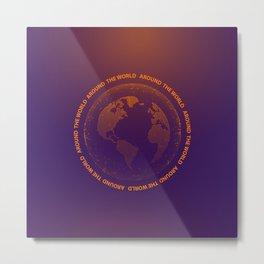 Around the world Metal Print