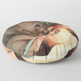 Oral Floral Floor Pillow
