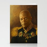replaceface Stationery Cards featuring Samuel L. Jackson - replaceface by replaceface