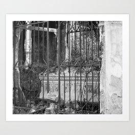 old gate & grave Art Print