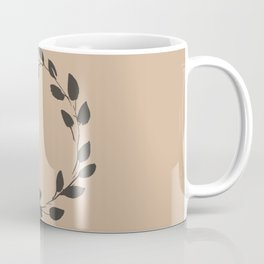 Simple Wreath on Hazelnut Coffee Mug