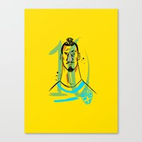 zlatan Canvas Prints featuring ZLATAN 10 by AG Abreu