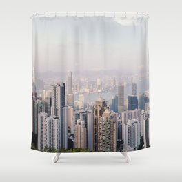 Hong Kong skyline by day Shower Curtain