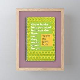 Great books like you magenta Framed Mini Art Print
