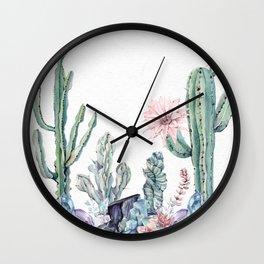 Desert Gemstone Oasis White Wall Clock