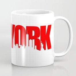 New York Skyline - Red Coffee Mug