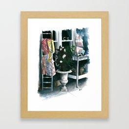 Sidewalk Sale Framed Art Print