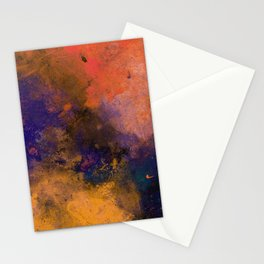 Inner Peace - Orange, red, blue, pastel, textured painting Stationery Cards