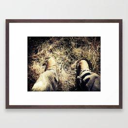 Relax Outside Framed Art Print