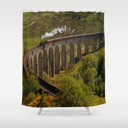 Heading To School Of Wizardy And Magic Shower Curtain