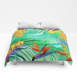 Hawaiian Bird of Paradise Comforters