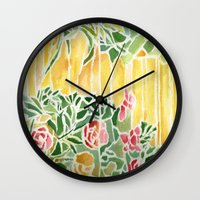 tiffany Wall Clocks featuring Tiffany Inspired by Rosie Brown