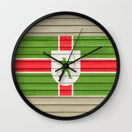 Flag of Nottinghamshire UK County Flag Nottingham Robin Hood  Wall Clock