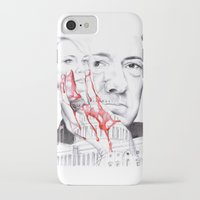 house of cards iPhone & iPod Cases featuring House of Cards by 13 Styx