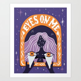 Eyes On Me - Witch Art Print
