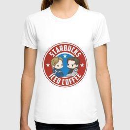 Starbucks - Steve Rogers and Bucky Barnes Iced Coffee  T-shirt
