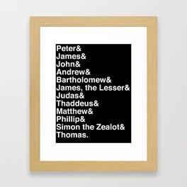 Helvetica Apostles Framed Art Print
