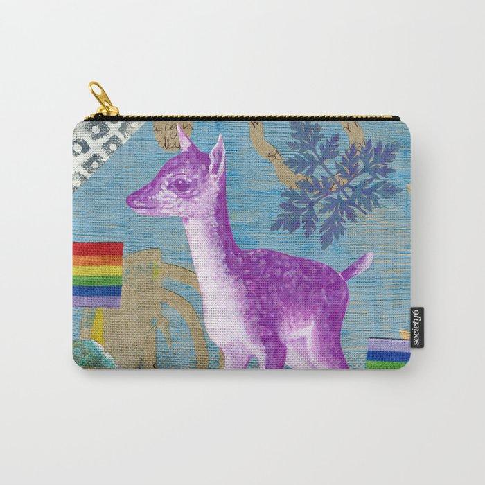 rainbow deer 2 Carry-All Pouch