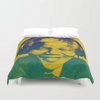 mandela Duvet Covers featuring Mandela Rocked by _JC_