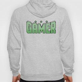 Video Game Gamer cool font green saying star gift online Hoody