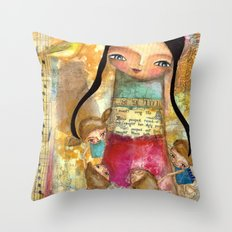 Music - teacher and children Throw Pillow
