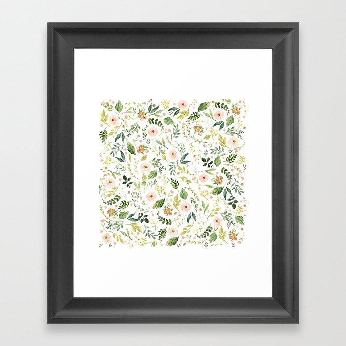 Botanical Spring Flowers Gerahmter Kunstdruck