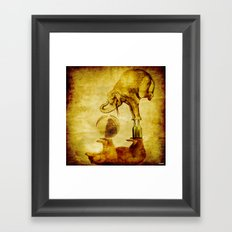 The elephant and the bear have fun Framed Art Print