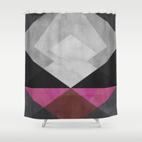 diamond Shower Curtains featuring Diamond by Georgiana Paraschiv